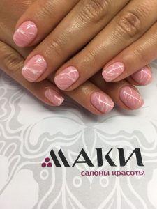 """Имитация камня на ногтях в салоне """"Маки: Орехово"""""""